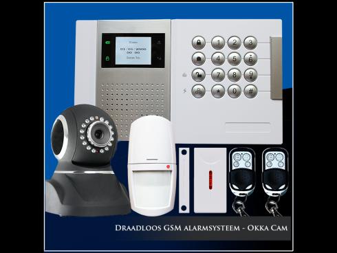 Draadloos GSM alarmsysteem - Okka Cam