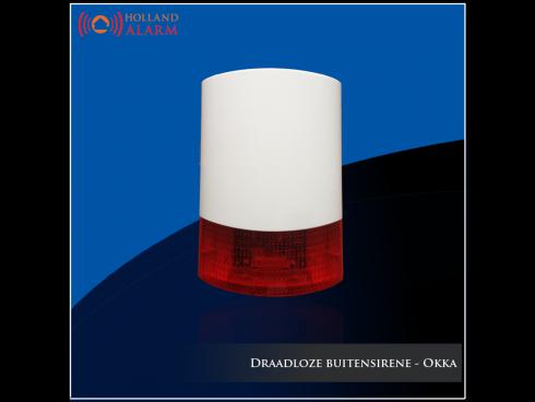 Draadloze buitensirene - Okka alarmsysteem